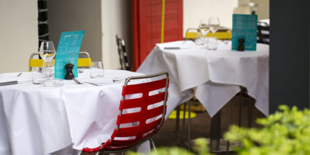 restaurant table en terrasse haut rhin