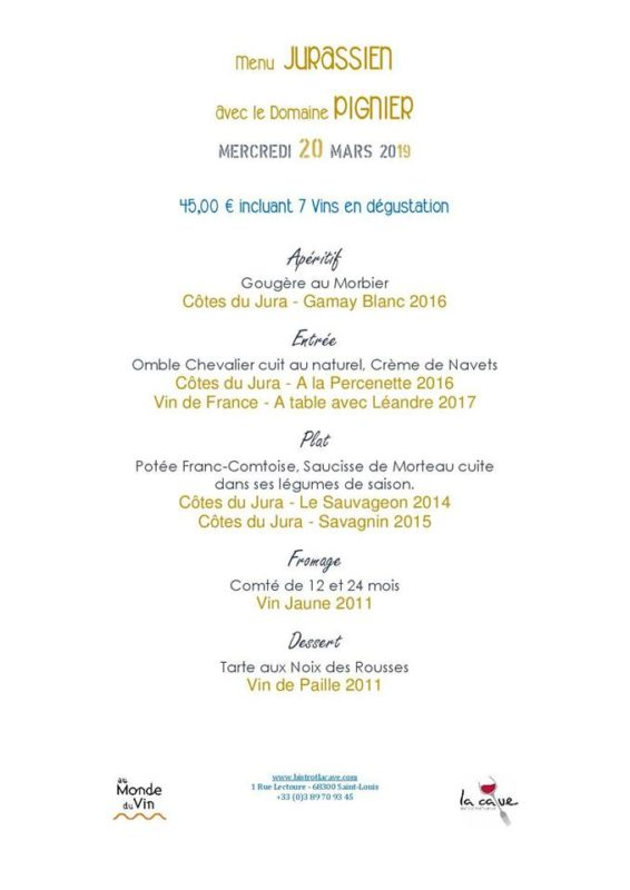 menu accord mets-vins